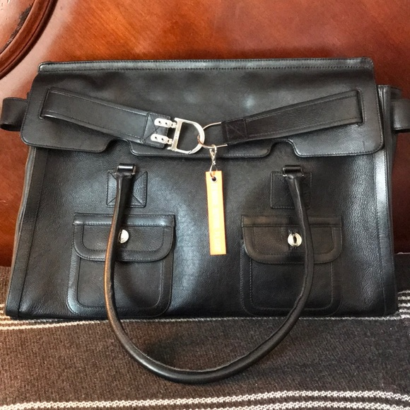 Christian Dior oversized leather briefcase/bag